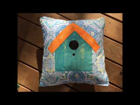 Easy Spring Birdhouse Pillow Toppers
