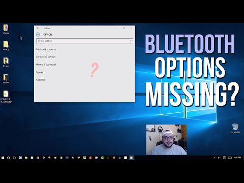 Bluetooth Options Missing from Windows 8/10? (Code 45)