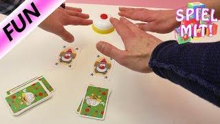 Halli Galli Junior demo Nina, Kaan und Kathi spielen um die Wette mit bunten Clowns