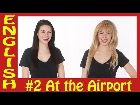 English conversations #2 - At the airport - محادثة باللغة الإنجليزية - في المطار