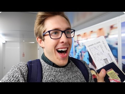 FIRST CLASS FLIGHT with Virgin Atlantic! I got an UPGRADE! LHR to LAX  | Evan Edinger Travel
