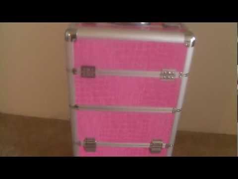 Makeup Case Review PINK CROC PRINT