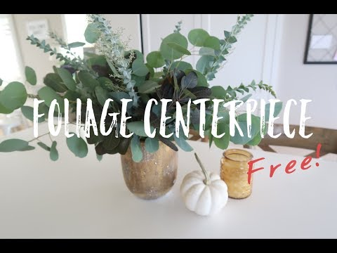 How to Make an All Greenery Centerpiece {For Free!}