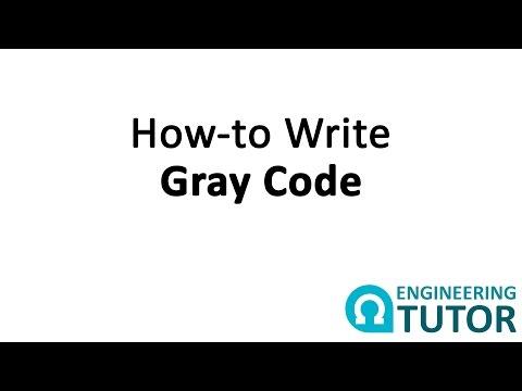 How to Write 1 bit, 2 bit, and 3 bit Gray Code