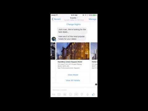 Expedia bot for Facebook Messenger