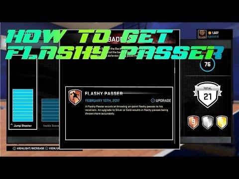 NBA 2k16 -How to unlock the Flashy Passer Badge