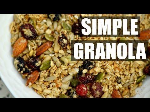 Homemade easy & quick GRANOLA RECIPE | HEALTHY RECIPES
