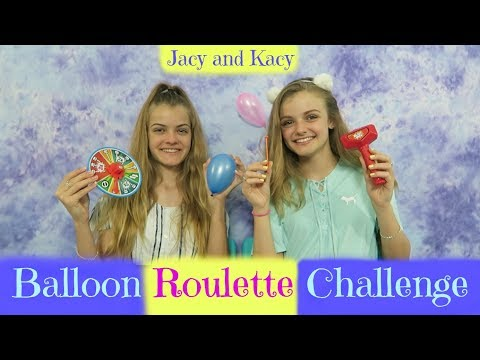 Balloon Roulette Challenge ~ Blast Box ~ Jacy and Kacy