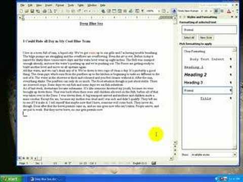 Use of Styles with Word 2002 JMLA