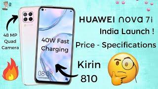 Huawei Nova 7i (6 SE) India Launch | Kirin 810 | 40W Fast Charging | Huawei Smartphones 2020| PHONLY