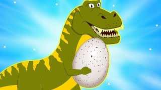Big Dinosaur has Stolen Egg | Protect Baby Dino | Little Red Truck Rescue Team | Car Cartoon song