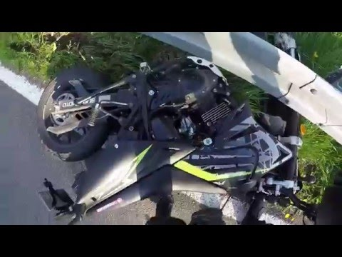 Motorcycle Crash Kreidler SM 125 - Target Fixation [HQ]