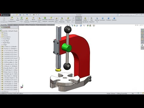 Solidworks tutorial | Sketch Arbor Press machine in Solidworks