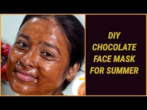 chocolate face mask for summer/#diy healthy glowing and radiant skin