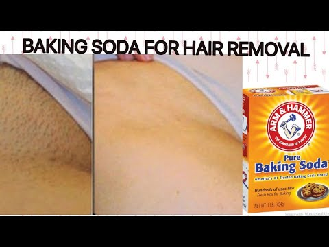 BAKING SODA FOR HAIR REMOVAL / DOES IT WORK?#ITRIEDIT