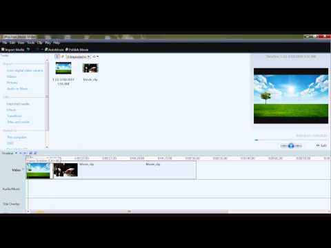 How to add image to video in the beginning in movie maker [HD]