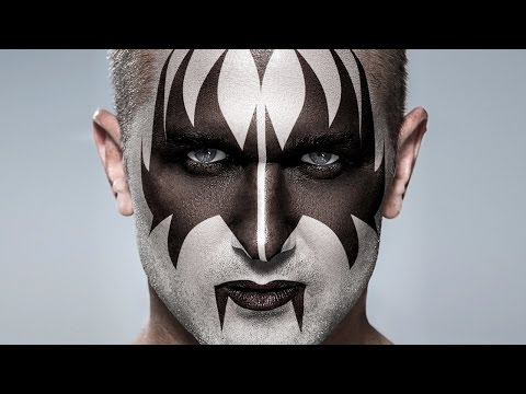 Photoshop Tutorial: KISS!  How to Apply Gene Simmons' Makeup to a Photo
