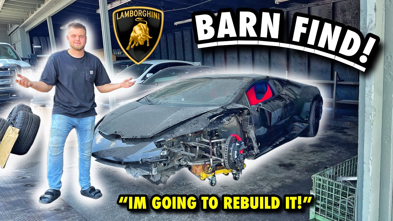 I JUST BOUGHT A BARN FIND LAMBORGHINI HURACAN LP610-4!!! (WRECKED!)