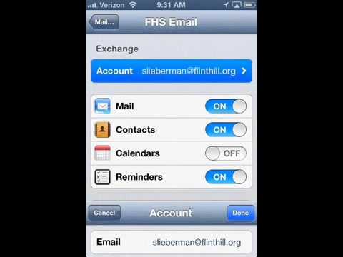 Setting up School Email on an iPhone