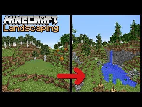 Minecraft Build School: Landscaping!