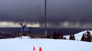 lightning storm at bogus basin