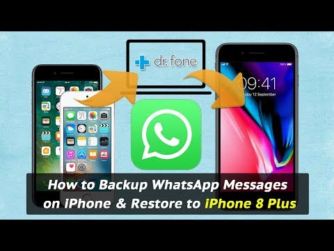 How to Backup WhatsApp Messages on iPhone & Restore to iPhone 8 Plus
