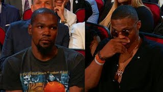Kevin Durant ROASTED in front of Russell Westbrook by Peyton Manning at 2017 ESPYS Awards
