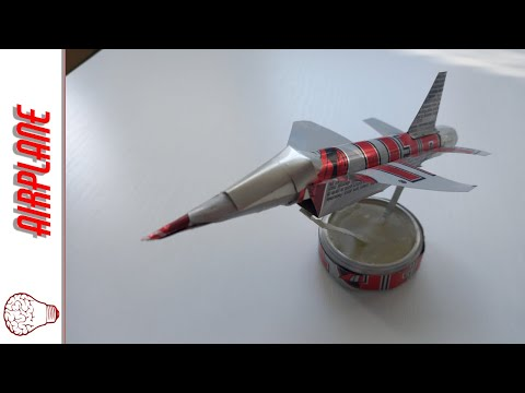 How to make airplane from cans (Powered by Hell Energy)