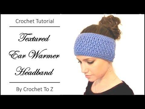Textured Ear Warmer Headband - Crochet Tutorial