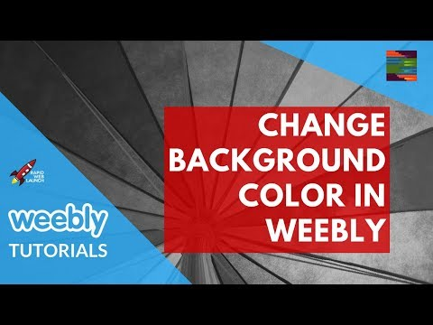 How to change the background color in Weebly | Weebly Tutorials