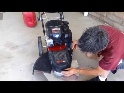 Craftsman Walk behind string trimmer repair and maitenance
