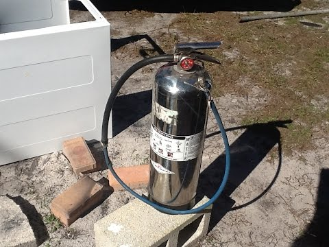Fire Extinguisher becomes a Compressed Air Cylinder ? Yep! :-)