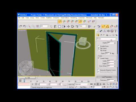 Windows and Doors in 3ds Max 2009 using AEC objects