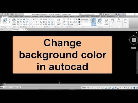 How to Change background color in autocad