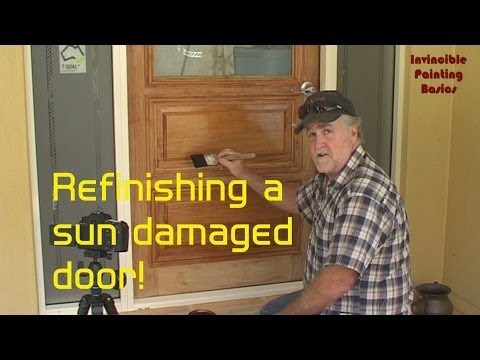 A front door, water damaged and sun damaged brought back to as new!