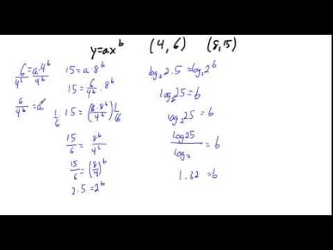 Writing equations as y=ax^b