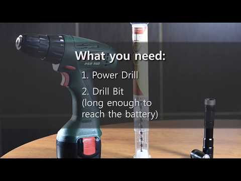 HOW TO remove corroded battery from flashlight