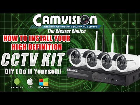 Camvision CCTV NVR Wifi Kit Wireless CCTV (DIY): For Android Setup
