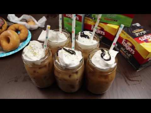Folgers Iced Mocha Donut Delight
