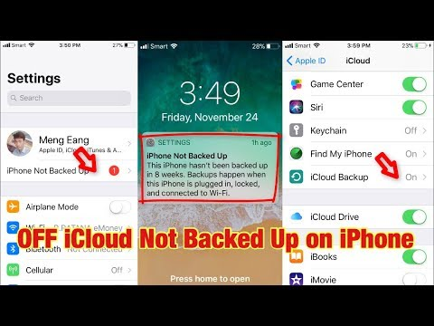 How To Turn OFF iCloud Backed Up Failed And Notification