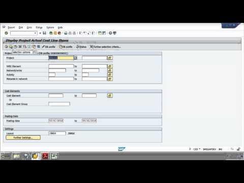 SAP CJI3, Invoice to PDF, JV Template Posting