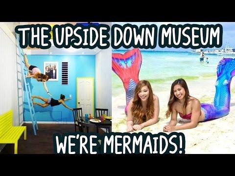Mermaids in Boracay! + The Upside Down Museum (Manila) Philippines, VLOG