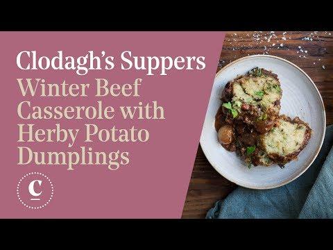 WINTER BEEF CASSEROLE WITH HERBY POTATO DUMPLINGS