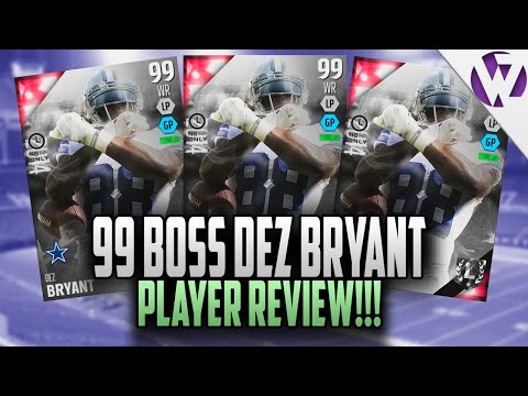 Madden 16 ULTIMATE BOSS DEZ BRYANT REVIEW!!! 99 OVERALL Madden 16 PLAYER REVIEW!!!