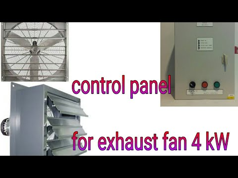 exhaust fan control panel advanced protection and new simple methods