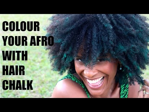 How to colour natural afro hair with hair chalk