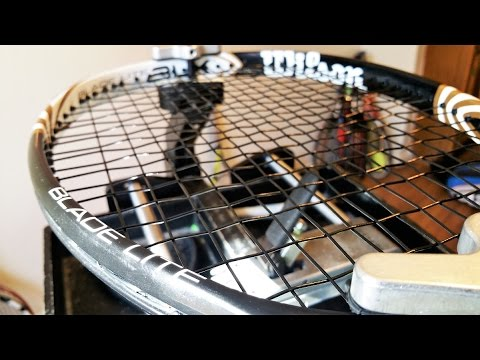 How to String a Tennis Racquet: Commentary - Wilson Blade