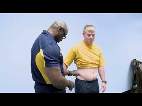 Official Navy Abdominal Circumference Measurement Demonstration