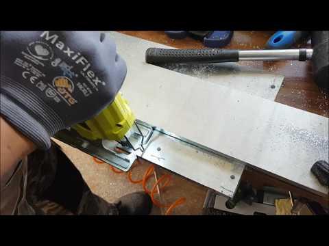 Cutting aluminium using Ryobi One+ Cutter and Jigsaw
