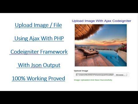 Upload Image / File in Codeigniter Ajax formData Method Using Jquery / JavaScript 100% working